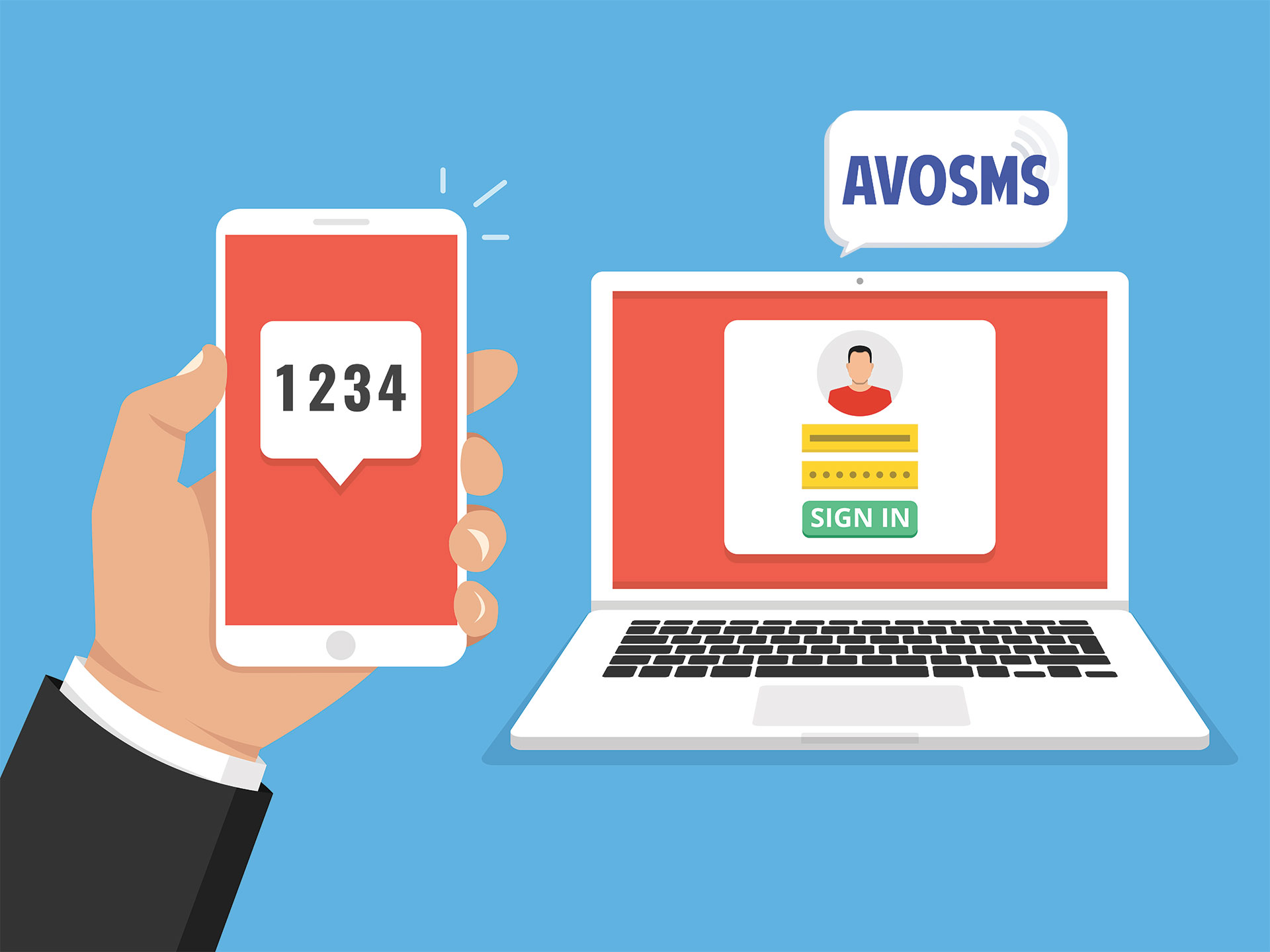 AvoSMS : Authentification SMS, validation, vérification numéro mobile